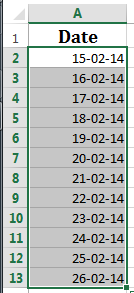 Highlight WEEKENDS or WEEKDAYS using conditional Formatting