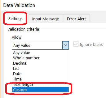 Allow only 10 digit numeric mobile number in Excel using